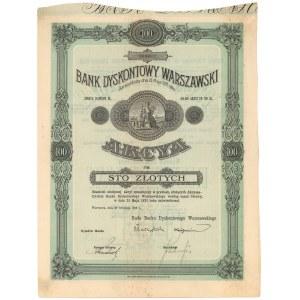 Bank Dyskontowy Warszawski, 100 zł 1926