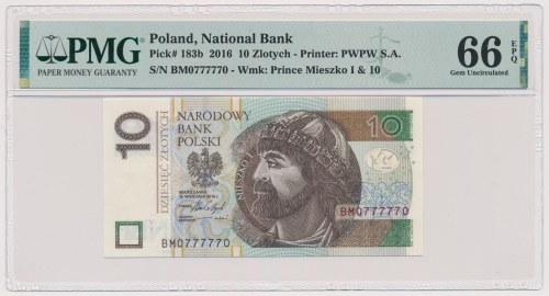 10 złotych 2016 - BM 0777770 - radar