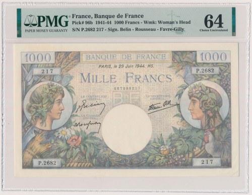 France, 1.000 Francs 1944