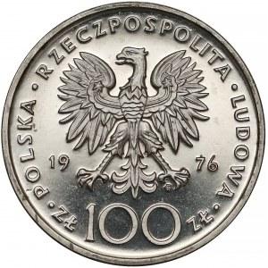 Próba NIKIEL 100 złotych 1976 Pułaski (na wprost)