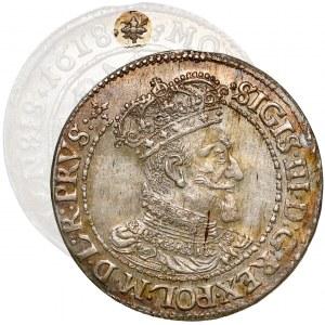 Zygmunt III Waza, Ort Gdańsk 1618 SB - WĄSY - piękny i rzadki