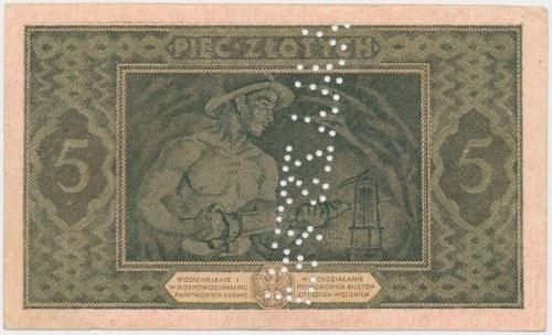 5 złotych 1926 - Falsyfikat z epoki