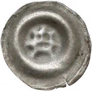 Brakteat - głowa wołu na wprost / ludzka twarz