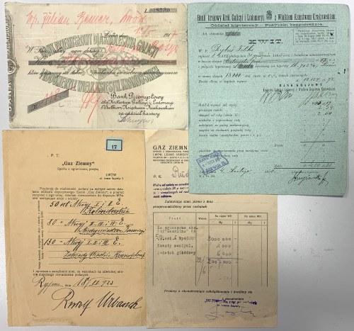 Galicyjskie Spółki Akcyjne - Prospekty, Statut, Reklamy i Dokumenty różne