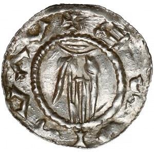 Czechy, Udalryk i Brzetysław I, Denar Ołomuniec (1028-34)