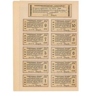 Kopalnia Węgla Kamiennego ANTONSGLUCK (SZCZĘŚCIE ANTONIEGO), Ser.B, 1.000 mkp 1923