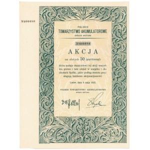 Polskie Tow. Akumulatorowe, 50 zł 1925