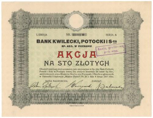 Bank KWILECKI, POTOCKI i S-ka, Em.1, 100 zł