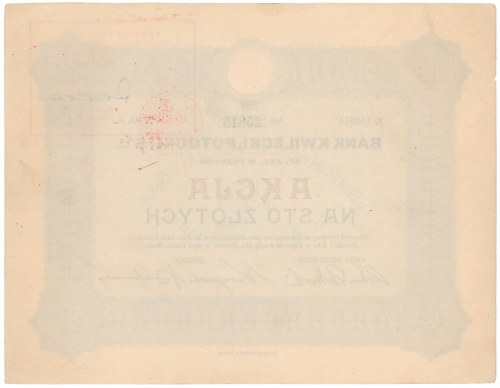 Bank KWILECKI, POTOCKI i S-ka, Em.2, 100 zł
