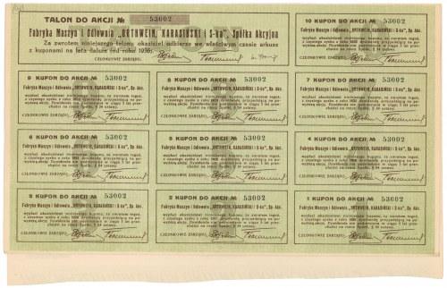 ORTHWEIN, KARASIŃSKI Fabryka Maszyn i Odlewnia, 25 zł 1926