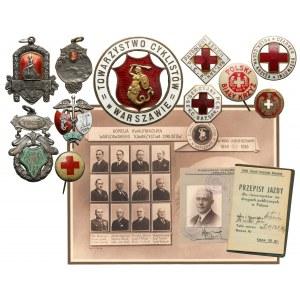 Warszawskie Towarzystwo Cyklistów - imienny komplet odznak i dokumentów