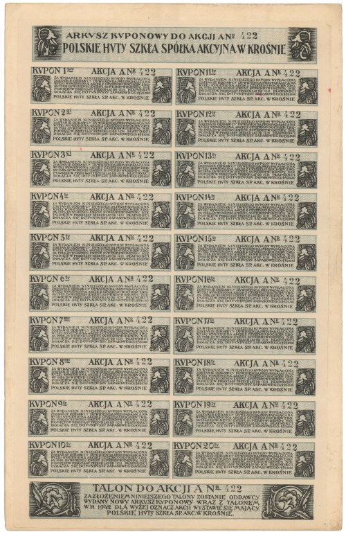 Polskie Huty Szkła, 280 mkp 1921