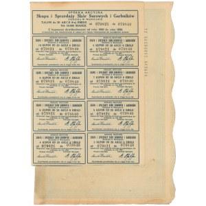 Spółka Akc. Skupu i Sprzedaży Skór Surowych i Garbników, Em.8, 20x 500 mkp 1923