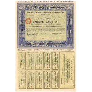 Białaczowskie Zakłady Ceramiczne, Em.1, 10x 300 zł 1929