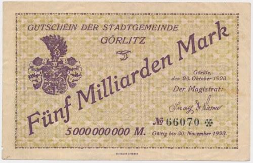 Gorlitz (Zgorzelec), 5 mld mk 1923