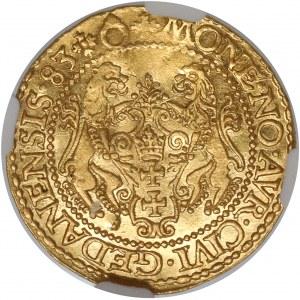 Stefan Batory, Dukat Gdańsk 1583 - lwy z profilu - PIĘKNY