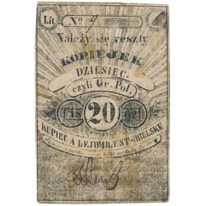 Bielsk, A. Lejb Lent, 10 kopiejek = 20 groszy 1862