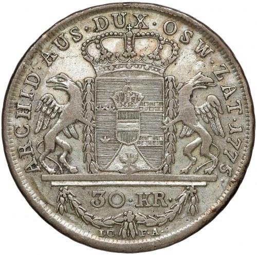 Ks. oświęcimsko-zatorskie, 30 krajcarów Wiedeń 1775