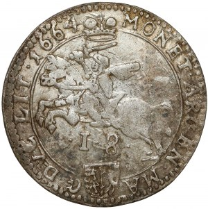Jan II Kazimierz, Ort Wilno 1664 - z obwódkami - rzadki