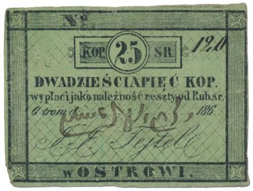 Ostrów, I. I . Tejtel, 25 kopiejek 186...