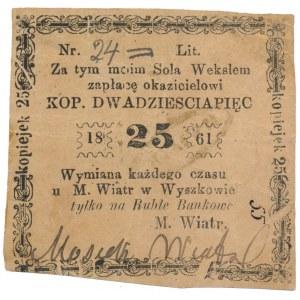 Wyszków, M. Wiatr, 25 kopiejek 1861