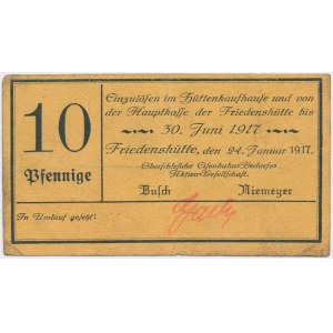 Friedenshutte (Nowy Bytom), 10 pfg 1917