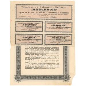 GOSŁAWICE Tow C.ukrowni i Rafinerji, Em.6, 5x 540 mkp 1923