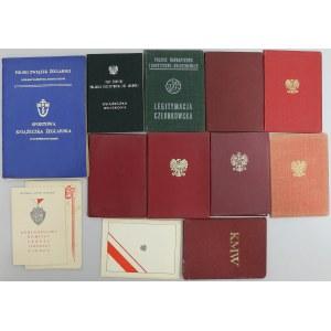 PRL - zestaw legitymacja po pułkowniku (12szt)