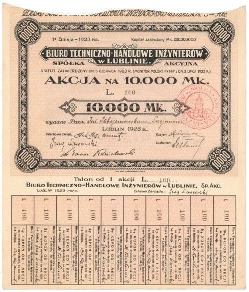 Biuro Techniczno-Handlowe Inżynierów w Lublinie, Em.1, 10.000 mk
