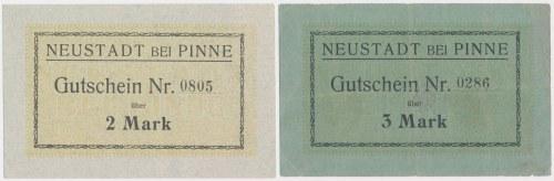 Neustadt bei Pinne (Lwówek Wlkp.), 2 i 3 mk (2szt)
