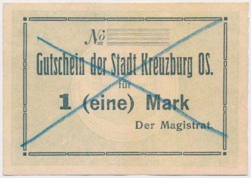 Kreuzburg (Kluczbork), 1 mk