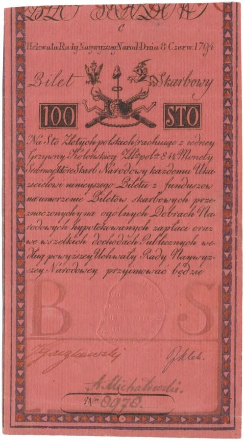 100 złotych 1794 - C - ex. Miłczak ilustrowane w katalogu - najrzadsza seria - piękny stan