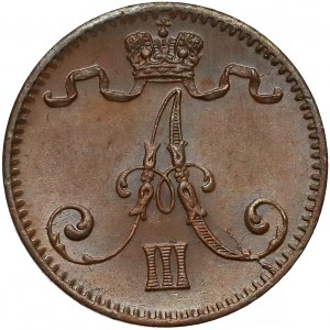 Finland / Russia, Alexander II, 1 Penni 1888