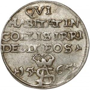 Zygmunt II August, Trojak Tykocin 1565 - Szyderczy - LIT
