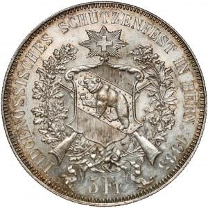 Switzerland, 5 Francs 1885 Shooting Festival Bern