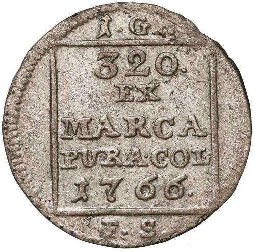 Poniatowski, Grosz srebrny 1766 F.S. - BEZ NAPISU - rzadki