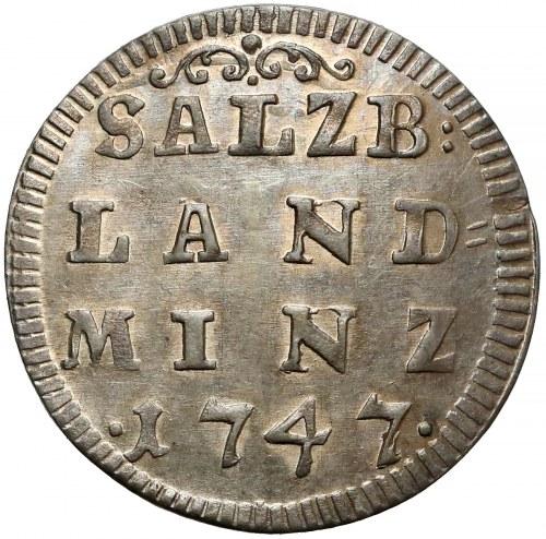 Austria, Salzburg, Dietrichstein, 4 krajcary 1747 - piękne