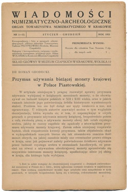 WNA 1923 - kompletny rocznik