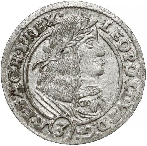 Austria, Leopold I, 3 krajcary 1661 GH, Wrocław