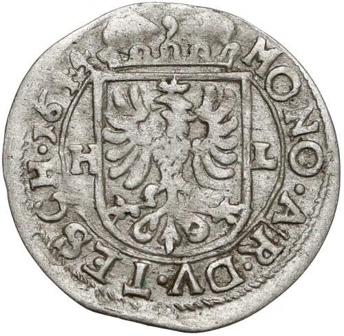 Śląsk, Ferdynand III, 1 krajcar 1644 HL, Cieszyn - rzadki