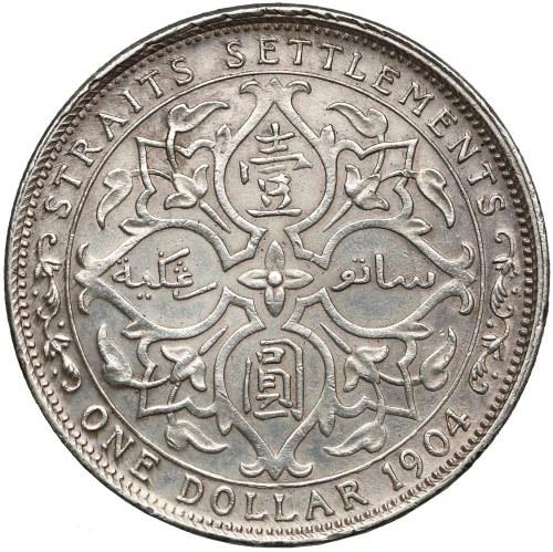 Straits Settlements (Malaysia), Edward VII, Dollar 1904