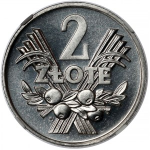 PROOF LIKE 2 złote 1970 Jagody - jak lustrzanka