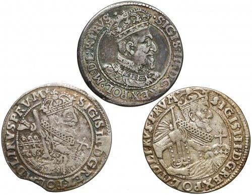 Zygmunt III Waza, Orty Gdańsk i Bydgoszcz 1618-1624 (3szt)