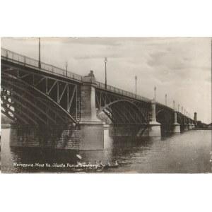 WARSZAWA. Warszawa. Most Ks. Józefa Poniatowskiego, fot. cz.-b., wykon. ok